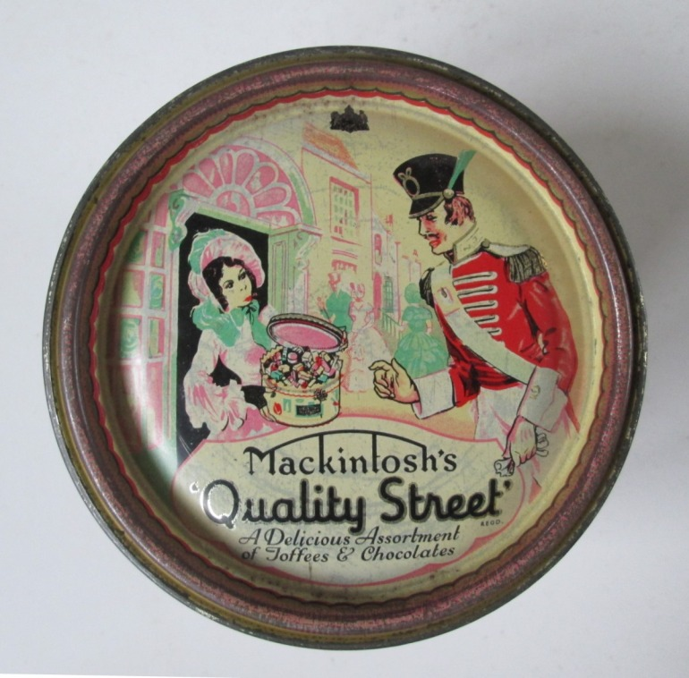 The original Quality Street Soldier & Lady design