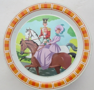 The first of several Quality Steet images showing the Soldier & Lady on horseback