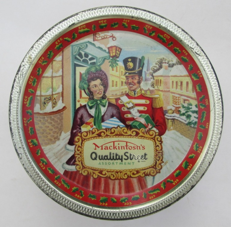 The classic Quality Street Christmas Soldier & Lady image