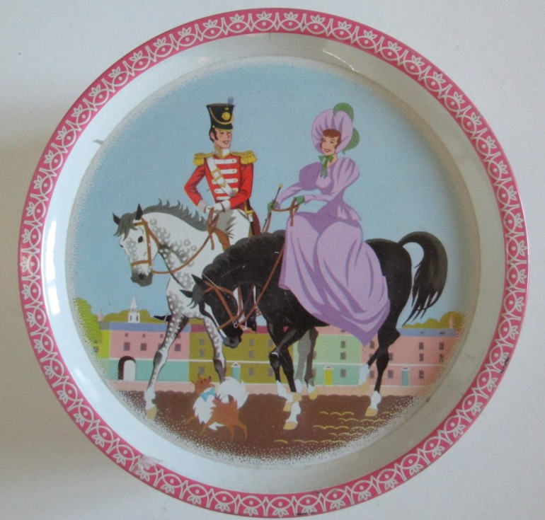 Another image of the Quality Street Soldier & Lady on horseback