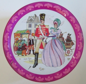 The Quality Street Soldier & Lady at the market