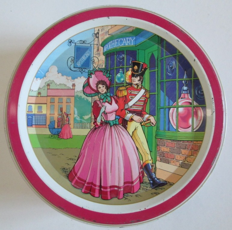 The Quality Street Soldier & Lady at the apothecary shop