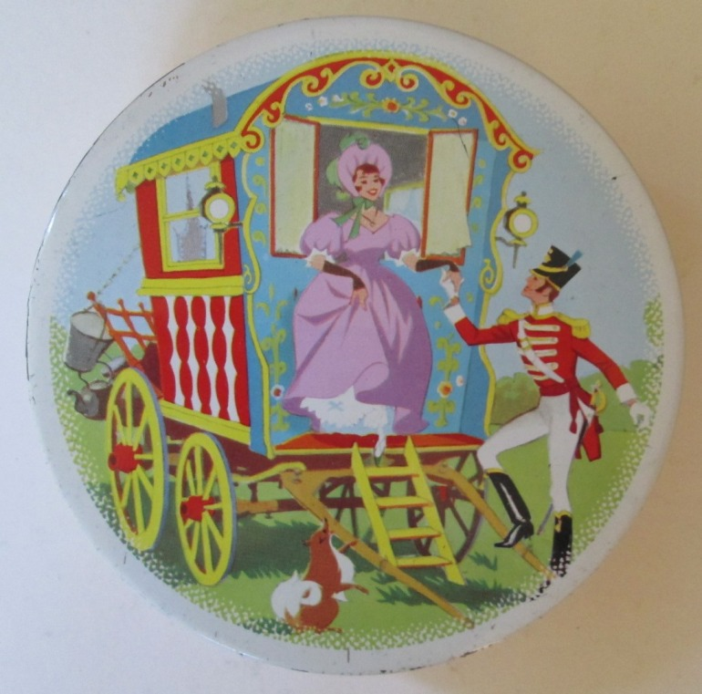 The Quality Street Soldier & Lady in a gypsy caravan
