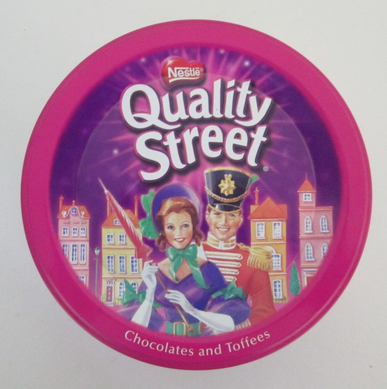 The Quality Street Soldier & Lady in modern pose