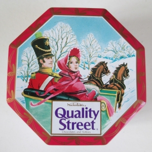 The Quality Street Soldier & Lady enjoy a ride in a phaeton