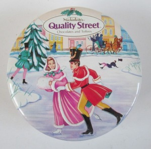 The French Quality Street Soldier & Lady go skating