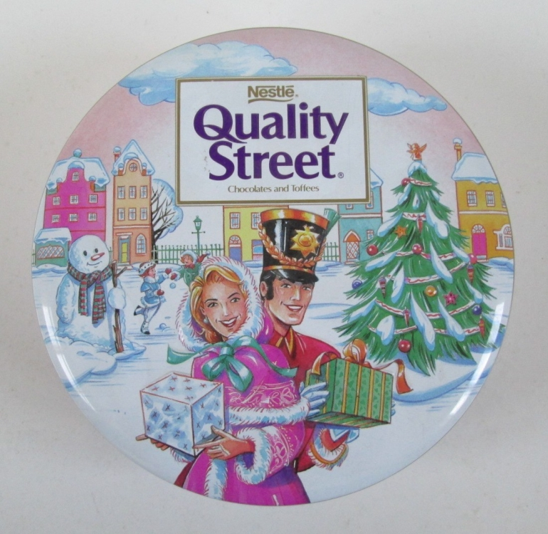 The Quality Street Soldier & Lady and a snowman