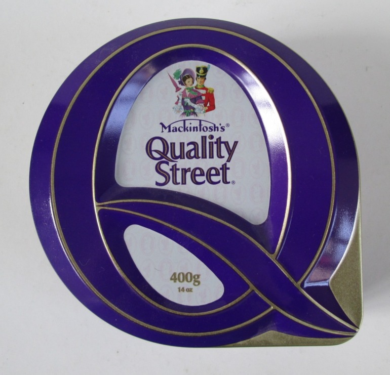 The Quality Street Q design featuring the Soldier & Lady