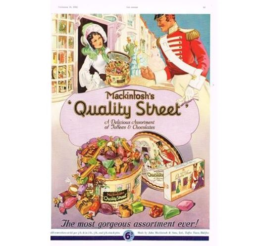 A 1936 Quality Street advertisment from The Sphere