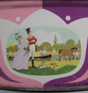 The Quality Street Soldier & Lady by the canal
