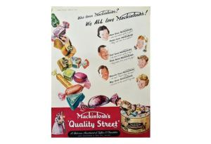 A Quality Street advertisment from Punch magazine 1951