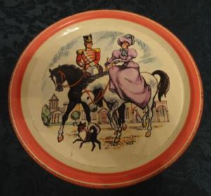 The Quality Street Soldier & Lady on horseback