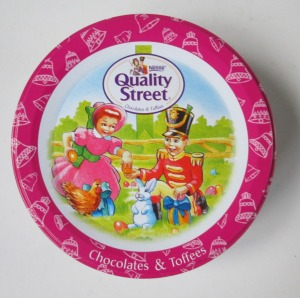 The Quality Street Soldier & Lady children with the Easter Bunny
