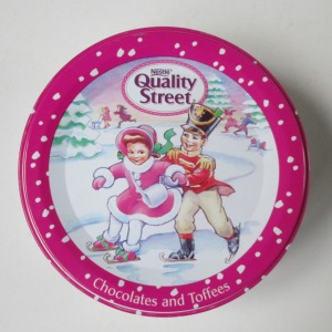 The Quality Street Soldier & Lady children skating