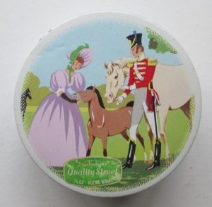 The Quality Street Soldier & Lady with a horse and foal