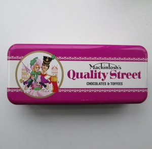 The Quality Street Soldier & Lady in a classic street pose