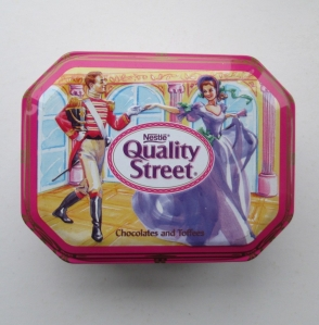 The Quality Street Soldier & Lady dance in France