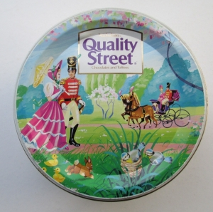 The Quality Street Soldier & Lady enjoy an Easter walk