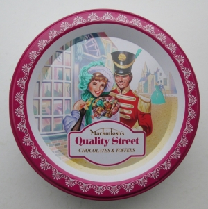 The Quality Street French Soldier & Lady in a classic pose