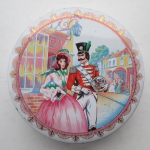 The Quality Street French Soldier & Lady in classic street scene