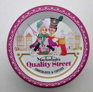 The Quality Street Soldier & Lady in classic French pose