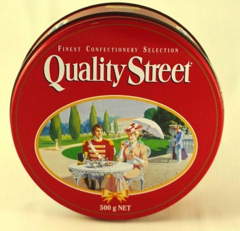 The Australian Quality Street Soldier & Lady enjoy tea and cake